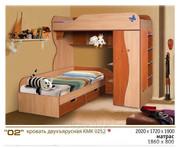 Кровать двухъярусная КМК252