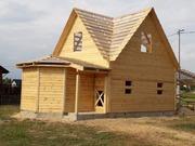 Дома из бруса Настя 6×8 установка в Речицком р-не