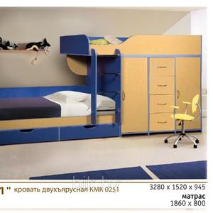 Кровать двухъярусная КМК251