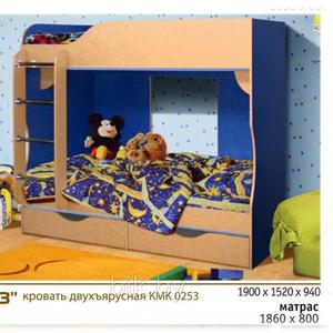 Кровать двухъярусная КМК253