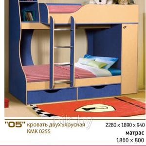 Кровать двухъярусная КМК255