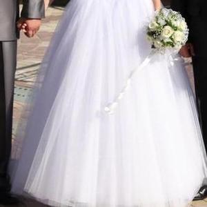 Продается свадебное платье б/у,  рост 170 см